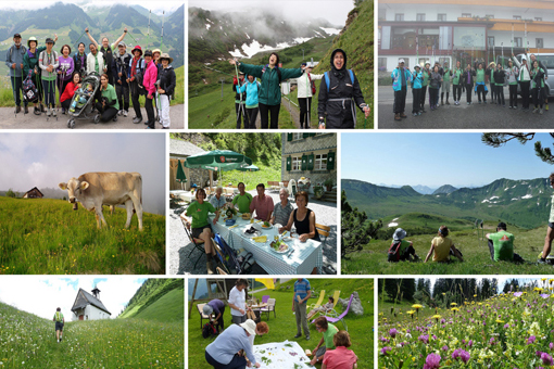 Nordic Walking Euro Alps Tour Photo Library